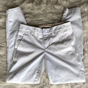 Vince White Skinny Cotton Chino Pants